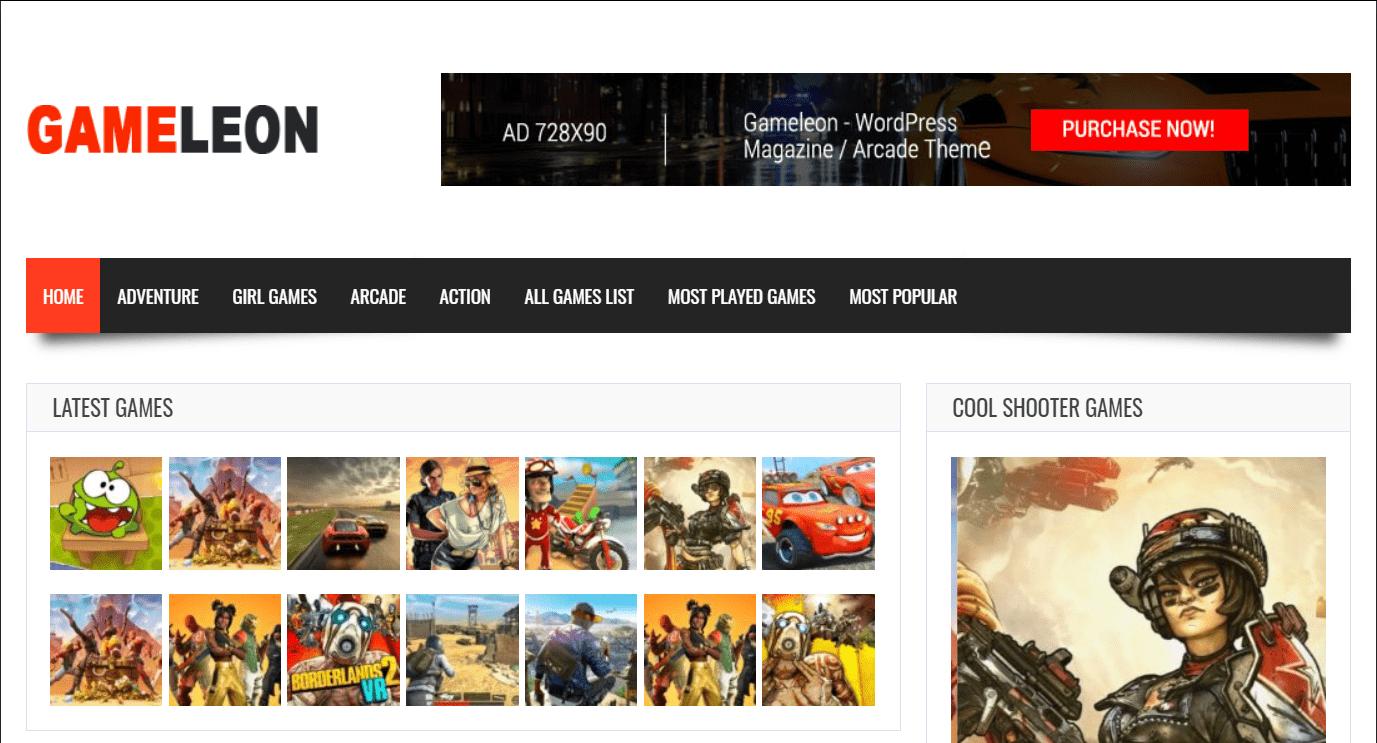 Gameleon - WordPress Arcade Theme and News Magazine