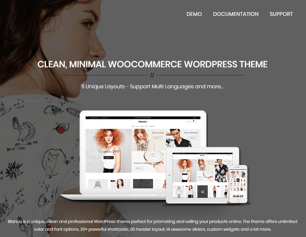 Blance - Clean, Minimal WooCommerce WordPress Theme